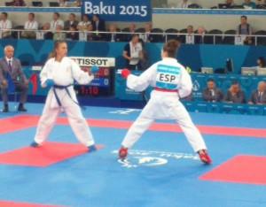 Ferrer, en uno de sus combates (Foto: RFEK)