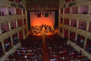 Banda de la COMGEBAL durante su último concierto en Maó.