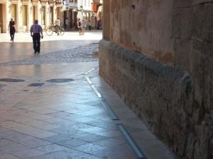 Detalle de la situación de algunas de las luces que iluminarán el exterior de la Catedral.