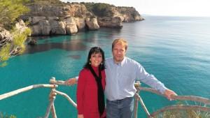 Joana Bagur y José Sanjuan, autores de 'Menorca t'estim'. Foto: J.B.F.