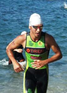 Albert Sabater, durante el aquatlón (Fotos: Xtrem Menorca Triatló)