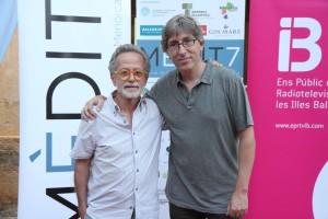 Fernando Colomo y David Trueba, la semana pasada en Menorca. Foto: Mèdit.