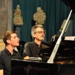 Marco Mezquida y Suso González durante su actuación. Foto: Rafa Raga.