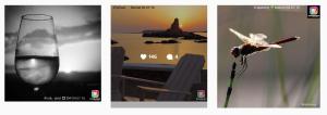 Tres de las imágenes colgadas en el perfil de IgersMenorca