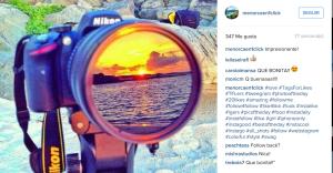 Una cámara Nikon: espejo perfecto para la belleza de Menorca