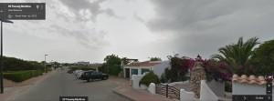 Tramo del paseo marítimo Cap d'Artrutx en Google View