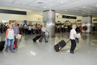 colas en el aeropuerto