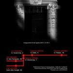 """Cartel anunciador de """"Abriendo puertas""""."""