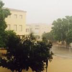 Lluvia acompañada de aparato eléctrico para las primeras horas del a ma mañana en Maó.