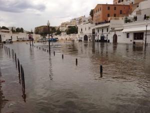 Aspecto del puerto de Ciutadella esta mañana. FOTO.- Diveiinmenorca