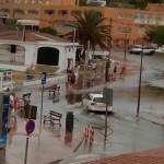 Imagen de Punta Prima después del chubasco. FOTO.- Jordi Fábregas