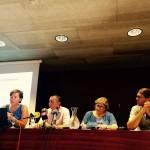La directora del museo, Carolina Desel, junto a los consellers insular y autonómico de Cultura, Miquel Àngel Maria y Esperança Camps, y el director insular Antoni Ferrer. FOTO.- CIME