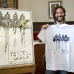 Jorge Fernández, autor del la imagen, muy sonriente en el Ayuntamiento de Maó. FOTO.- David Arquimbau.