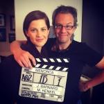 Barnard junto con Tammy, el primer día de rodaje.