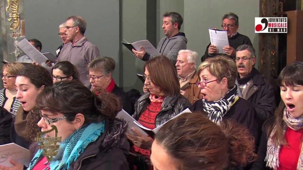 Capella Davídica assajant concert cap d'any participatiu. foto Capella Davídica i JJMM Maó