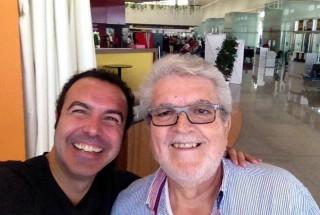Simón Orfila y Joan Pons ya están en Madrid ensayando para la Fiesta de la Lírica. Foto: Simón Orfila.