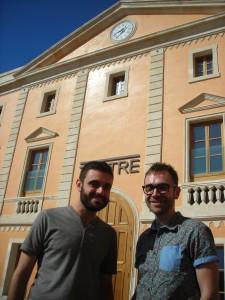 Xavi Morató (iz.) y Carles Mallol, los dos últimos ganadores del Premi Born de Teatre.