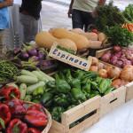Verduras y frutas de producción ecológica. FOTO.- Tolo Mercadal