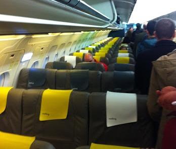 Interior de un avion