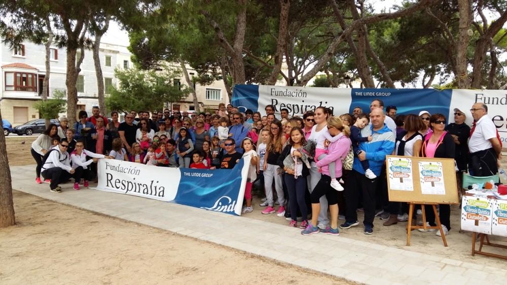 Imagen de una de las caminatas solidarias organizadas en Menorca