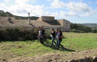 El conseller Javier Ares durante la visita a la finca de Alfurí de Dalt. Foto: CIM.