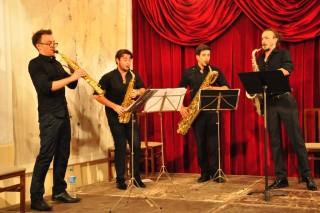 Los Fukio Ensemble en su actuación del Festival de Música d'Estiu de Ciutadella 2015. Foto: Rafa Raga.