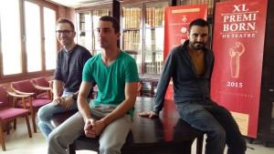 Los tres últimos ganadores del Premi Born: Carles Mallol (iz., 2013), Sergio Martínez (centro) y Xavi Morató (der., 2014).
