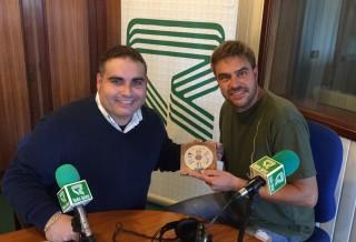 Manu Blanco y Bep Marquès en los estudios de Ràdio Balear.  Foto: R.B.