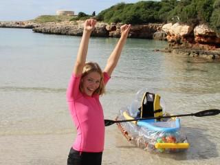 Olivia Moll supera el reto y recauda 1.000 € contra el cáncer
