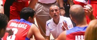 Olmos, en su etapa en la selección de Puerto Rico.
