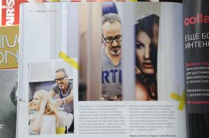 Entrevista a Carlos Vidal, en la prestigiosa revista Hair's, para su edición en Rusia.