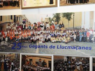 Entrañable muestra de los 25 años de los Geganters de Llucmaçanes