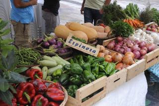 Productos de la agricultura ecológica en la Fira del pasado septiembre en Maó. Foto: Tolo Mercadal.