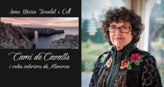 Anna M. Ticoulat y la portada de su nuevo libro de poemas.