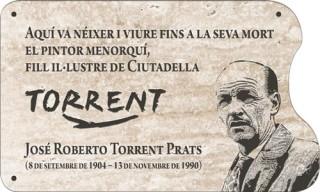 Placa en memoria de Josep R. Torrent.