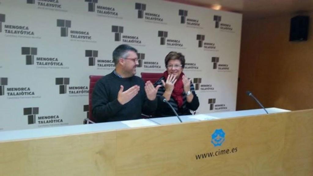 Marcos Pons y Maria Cabrisas en la rueda de prensa de presentación de la conferencia. Foto: CIM.