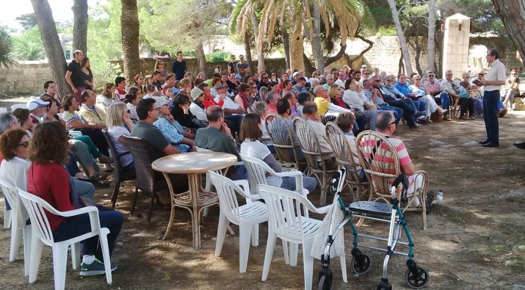 Momento de 'Gloses del vent' cuando se realizó en el Llatzaret. Foto: Editorial Arrela.
