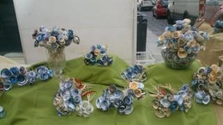 Ramos de flores hechos por los usuarios del Centre Polivalent Carlos Mir en una anterior ocasión. Foto: C.P.C.M.