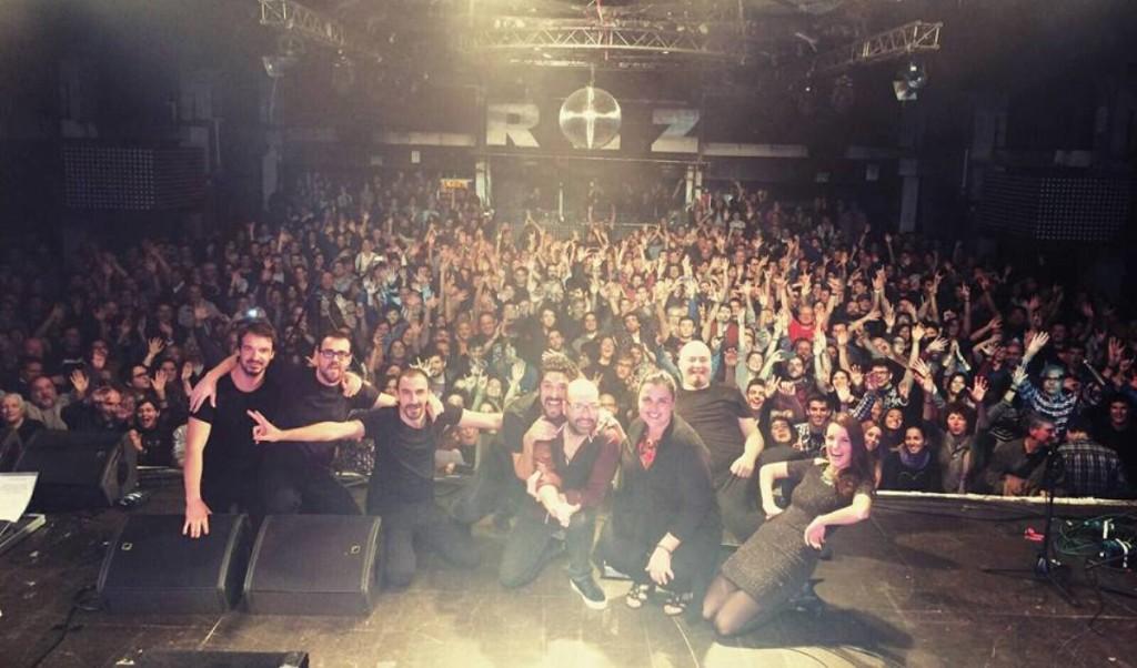 The Other Side tras su concierto en el Razzmatazz de Barcelona este sábado 28 de noviembre. Foto: T.O.S.
