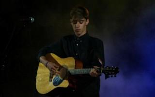 Àngel Gómez en uno de sus conciertos anteriores. Foto: A.G.