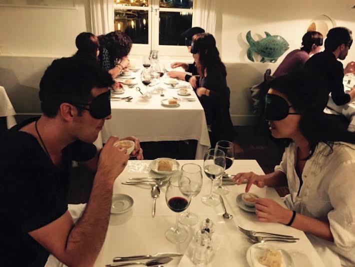 Momento de la cena en s'Amarador.