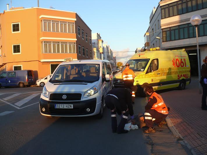 Imagen del accidente (Foto: Policía Local de Ciutadella)