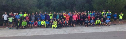 Foto de familia de los participantes (Fotos: Trail Menorca)