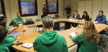 Reunión de la conselleria con representantes de la Assemblea de Docents, del pasado día 10 donde se discutieron los servicios mínimos.