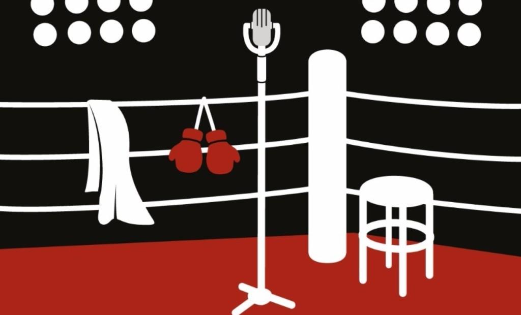 Imagen del cartel anunciador del combate de improvisación teatral.
