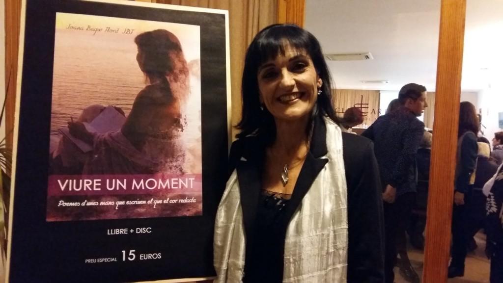 Joana Bagur Florit, momentos antes de iniciarse la presentación.