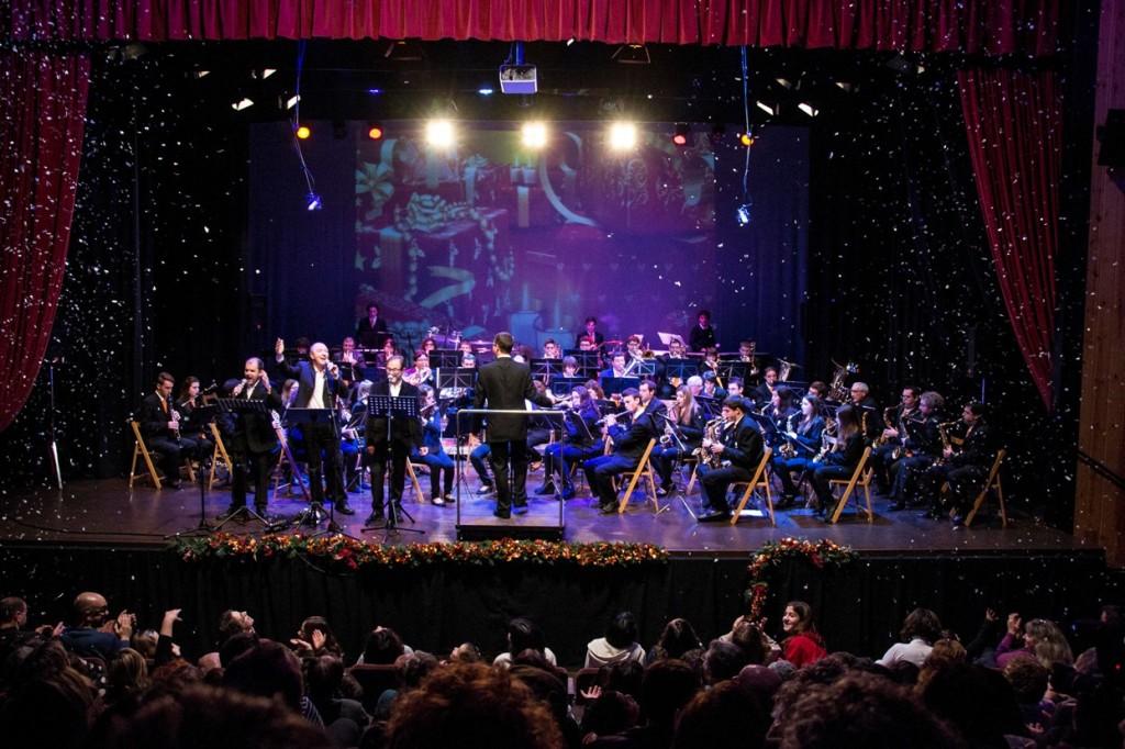 La Banda de Es Mercadal en uno de sus conciertos de Navidad anteriores. Foto: B.M.E.M.