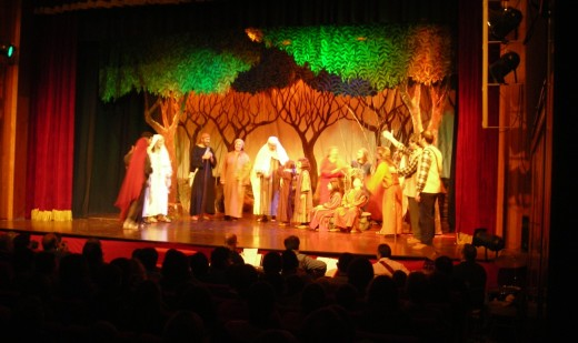 Momento de la representación de 'Els Pastorets' en Sant Miquel en 2014.