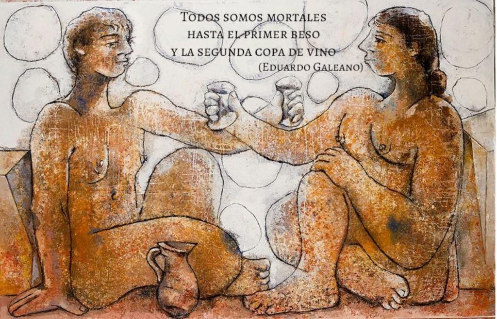 Una de las obras de Joan Bennàssar que pueden verse en el Roser de Ciutadella. Foto: Joan Bennàssar.