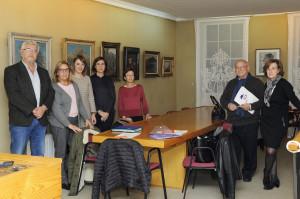 Desde la izquierda, Brígida Mora, Gràcia Mercadal, Pilar Arguimbau, Juana Francis Pons, Nicolás Bordoy